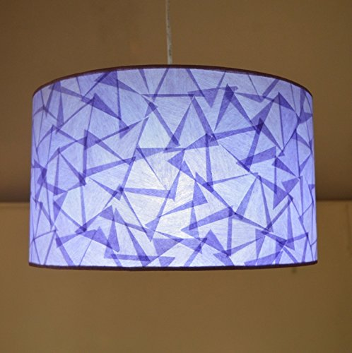 Salebrations Hanging Big Cylindrical Full Closed Lamp Shades With Triangular Cut Shoji Paper