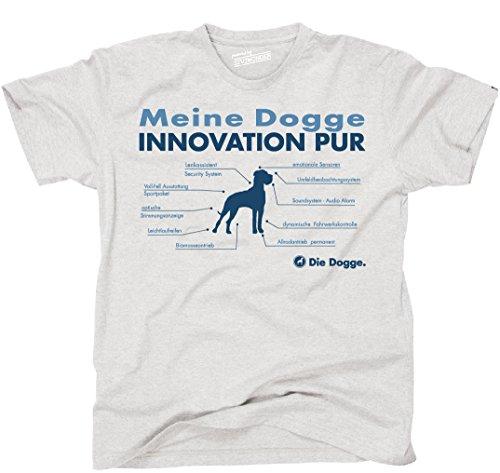 Siviwonder Unisex T-Shirt INNOVATION DOGGE TEILE LISTE Hunde lustig fun Ash