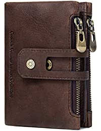 CONTACTS Mens Genuine Leather RFID Blocking Wallet