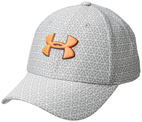 Under Armour Kinder Boy's Printed Blitzing 3.0 Kappe, Steel/Charcoal/Magma Orange (036), S/M (Under Armour Kind)