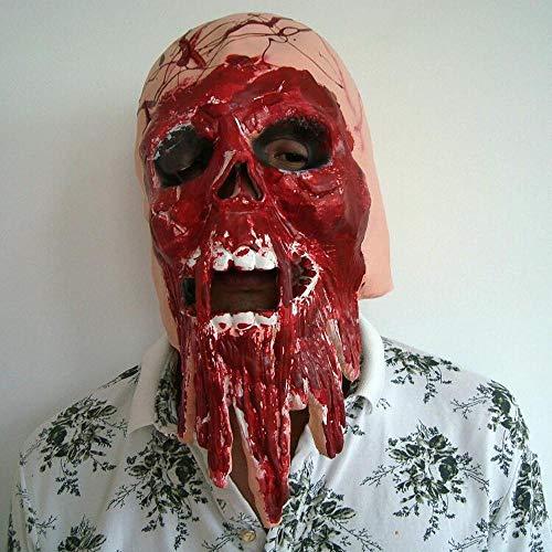 Erwachsene,Halloween-Horror-Thriller Perücke Haunted House geheime Haus Maske ()