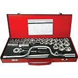 Silverline 282384 Socket Wrench Set 0.5-inch Drive Metric/AF 42-Piece Set