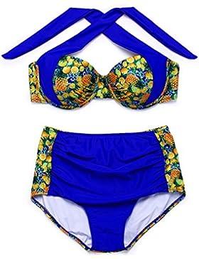 PU&PU Bikini del Halter della spiaggia delle donne due pezzi Impostare la patchwork di stampa di frutta del costume...