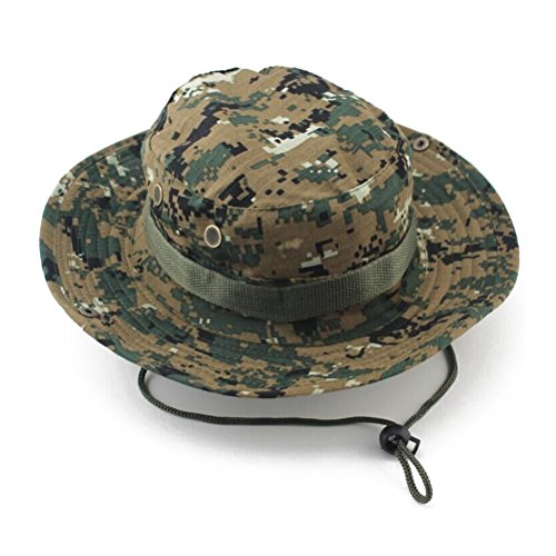 WINOMO Der Boonie Hut-Tarnungs-Eimer Bush Cap für Outdoor-Aktivitäten (Digital Camo) (Camo-hut Digital)