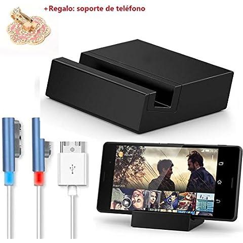 Malloom® para Sony Xperia Z3 / Z3 Compact magnético USB W/LED Cable + Cargador Dock azul