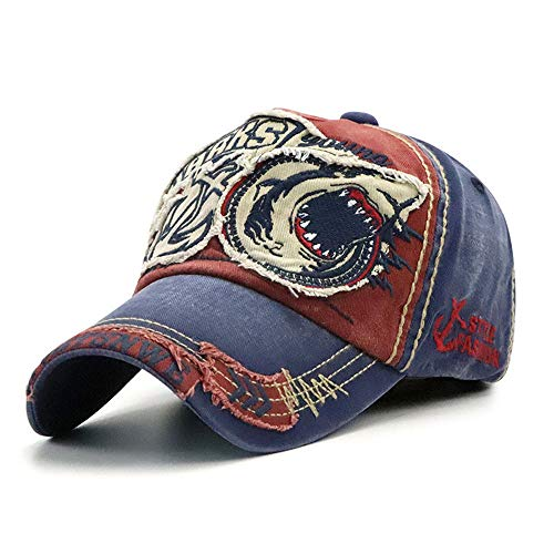 Klassischer Patch-Baseball-Kappe für Damen und Herren, Mode Casual Hut,WineRed