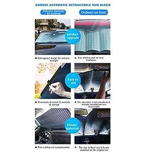 julyso Vorhang Autoseitenfenster Sonnenschutz Sonnenschutz Hitzeschild Rollo