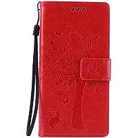 Nancen Tasche Hülle für Sony Xperia Z5 (5,2 Zoll) Flip Schutzhülle Zubehör Lederhülle mit Silikon Back Cover PU Leder Handytasche im Bookstyle Stand Funktion Kartenfächer Magnet Etui Schale