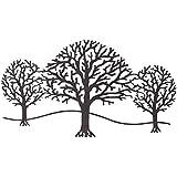 Siena Garden Décoration murale arbres, métal rouille, 97x 63cm, marron