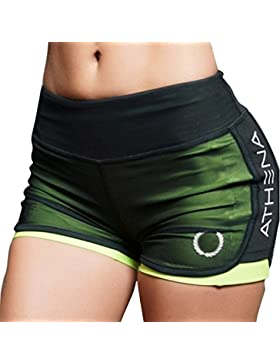 Yying Pantaloncini Donna Basic Maglia Hot Pants Ragazze Nuova Shorts Sportivi Skinny Yoga Breve Elastici Sport...