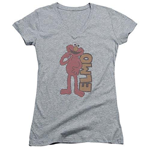 Juniors: Sesamstreet- Vintage Elmo V-Ausschnitt Junior (schmal) T-Shirt Größe XL (Junior-elmo Shirt)