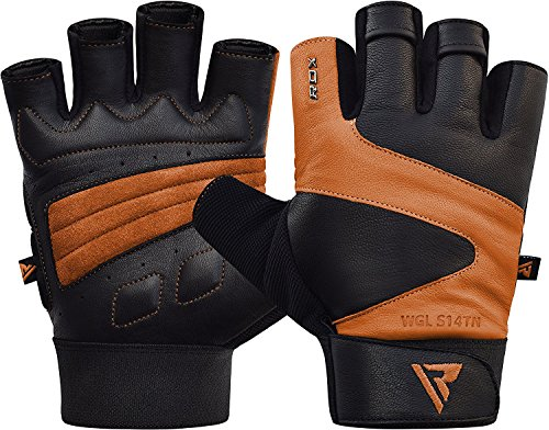 RDX-Weight-Lifting-Gloves-Gym-Fitness-Crossfit-Workout-Bodybuilding-Powerlifting-Cowhide-Leather-Breathable-Wrist-Support-Strength-Training-Exercise