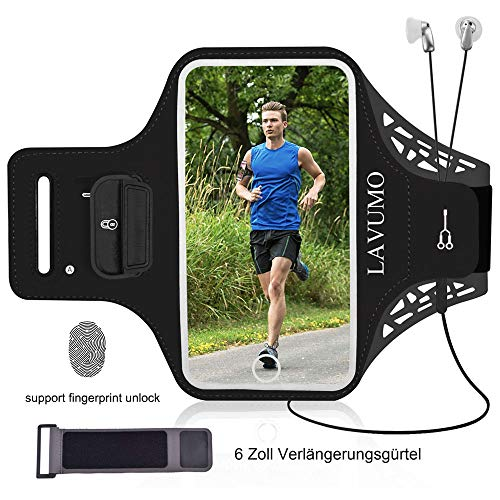 URUN Sportarmband für iPhone XR Sport Handytasche für Joggen Laufen Gym Fitness Arm Tasche Mit Schlüsselhalter Kabelfach Kartenhalter -