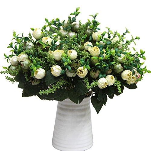 attachmenttou Tee Knospe Perle Künstliche Fake Floral Rose Blume Simulation Rose Für Home Hotel Büro Hochzeitsfest - Kopf-tisch-mittelstücke