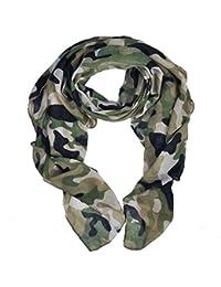 Heyjewels Unisexe Doux Léger Echarpe Cache Col Foulard Camouflage Vogue Mode  Viscose 180   90cm 877038ad8c2