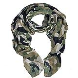 Fête des Mères unisexe doux echarpe foulard camouflage militaire motif chale pour jeu de plein air activities