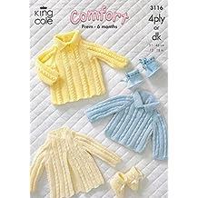 King Cole bebé cartucho para máquinas de corte, e instrucciones para hacer vestidos, perchero