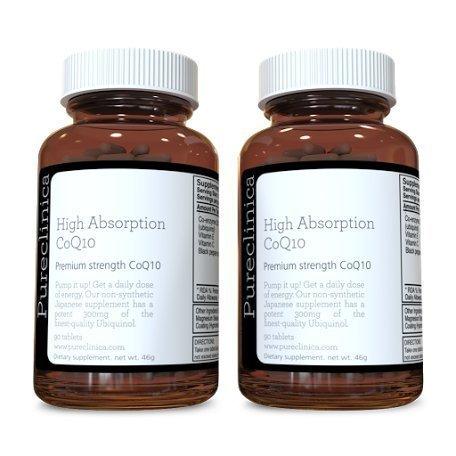 CoQ10 300mg x 180 compresse (2 bottiglie da 90 compresse ciascuna - 6 mesi di scorta). Con la Vitamina C ed estratto di pepe nero. SKU: CQ3X2