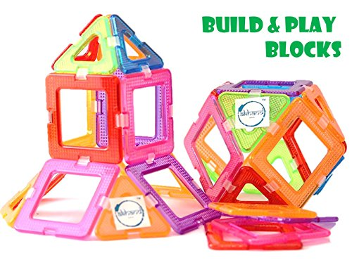 Akhand 36 Pieces Colorful Learning Building Blocks Play Set Construction Toy for Kids