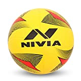 Nivia 2152 Rotator Moulded Rubber Volleyball, Adult Size 4 (Yellow)