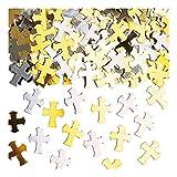 Amscan Gold & Silberkreuz Religiös Metallisch Tisch Konfetti Streuseln