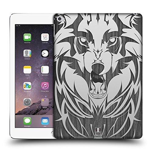 Animal-print Case Ipad (Head Case Designs Wolf Animal Wood Prints Ruckseite Hülle für iPad Air 2 (2014))