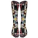 Madonna Collage Tube Socks für Damen und Herren - Absolventen für Laufen, Krankenschwestern, Flugreisen, Skifahren und Schwangerschaft - Steigern Sie die Ausdauer und Erholung