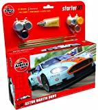 Airfix A50110 Aston Martin DBR9 Gulf 1:32 Scale Car Category 3 Gift Set with Paint Glue and Brushes