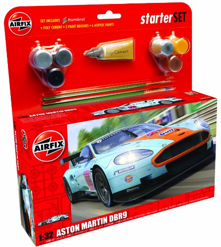 airfix-a50110-aston-martin-dbr9-gulf-132-scale-car-category-3-gift-set-with-paint-glue-and-brushes