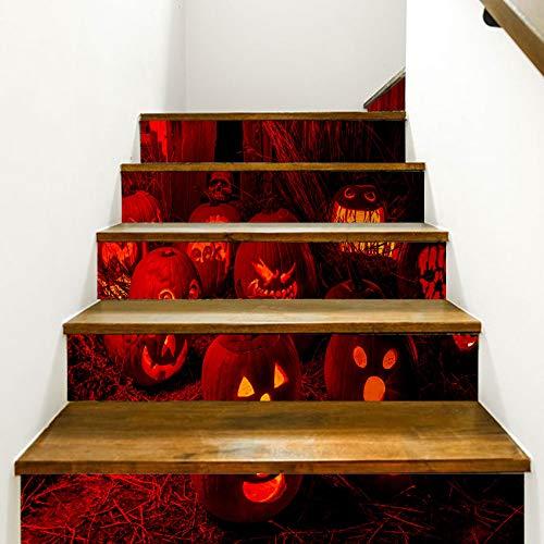 eber 13 Stück Halloween Stereo 3D Kürbis Licht Abnehmbare wasserdichte Wandaufkleber Schlafzimmer Wohnzimmer DIY Tapete 18 * 100cm ()