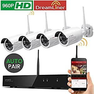 xmarto wos1384 kabellos video berwachung system bewegungsmelder 8 kanal 4x 960p kamera hd. Black Bedroom Furniture Sets. Home Design Ideas