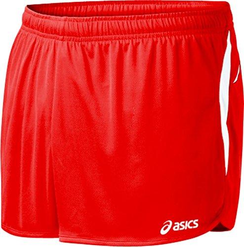 1/2 Split Shorts (ASICS Herren Interval 1/2 Split Shorts, Herren, rot/weiß, XX-Large)