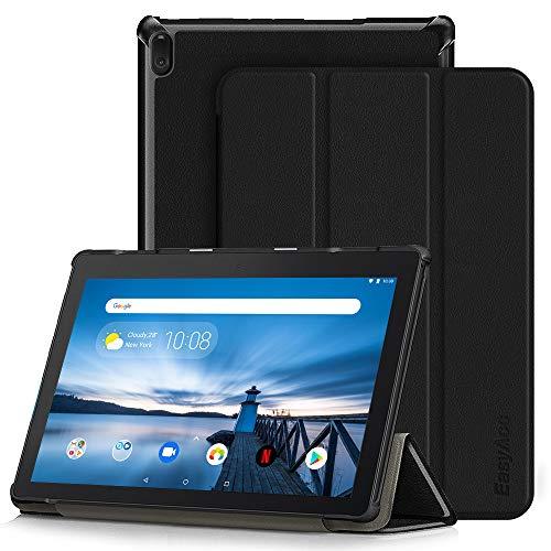 EasyAcc Hülle für Lenovo Tab E10/ ZA470057SE - Ultra Dünn Case mit Standfunktion Slim Leder Schutzhülle Ideal Geeignet für Lenovo Tab E10 25,5 cm Tablet (Schwarz)