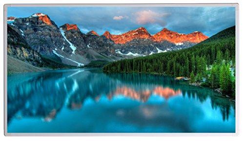 Könighaus Bildheizung (Infrarotheizung mit hochauflösendem Motiv) 5 Jahre Garantie (800-Banff national Park Rocky Mountains,)