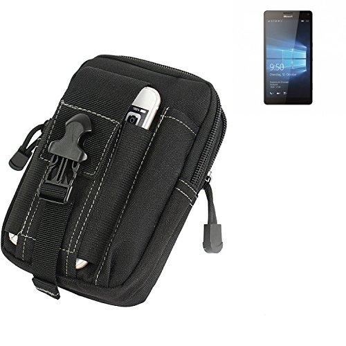 Gürteltasche / Holster für Microsoft Lumia 950 XL, schwarz | Extrafächer mit Platz für Powerbank, Festplatte etc. - K-S-Trade(TM)