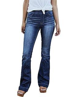 Guiran Jean Femme Bootcut Taille Haute Pantalons en Denim Jeans Stretch ab0d7d7b14a