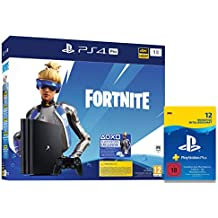Sony Interactive Entertainment PlayStation 4 Pro (1TB, black): Fortnite Neo Versa Bundle + PlayStation Plus Mitgliedschaft | 12 Monate | deutsches Konto | PS4 Download Code
