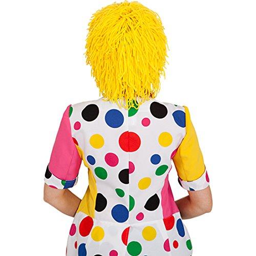 Amakando Clownperücke Clowns Haare gelb Clownsperücke Clown Perücke Karnevalskostüme Accessoires Wollhaare Karneval Harlekin Faschingsperücke