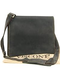 Sac Besace en cuir signé Visconti - gibecière (16025)