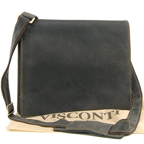 Visconti Sac Besace en cuir signé gibecière (16025)