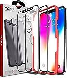 TOZO Kompatibel für iPhone X Panzerglas Schutzfolie Full Screen Curved folie für iPhone 10/X [9H...