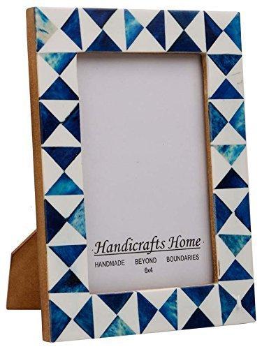 Handicrafts Home Picture Photo Frame Indigo Moorish Quatrefoil Mosaic Frames-Indigo-3