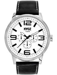 KA:OZ A58767S1I - Reloj para hombres, correa de cuero color negro