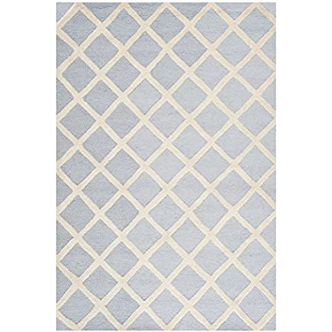 Safavieh Alfombra de área de Sophie con textura, Azul Claro/Marfil, 121x 182cm