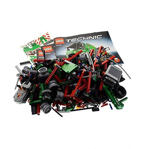 Preisvergleich Produktbild 1 x Lego Technic Teile Set Modell Traffic 42008 Service Truck Technik Auto grün mit BA unvollständig