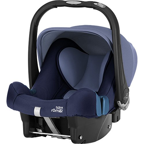 Britax Römer Baby-Safe Plus SHR II, Babyschale Gruppe 0+ (Geburt - 13 kg), Kollektion 2019, moonlight blue