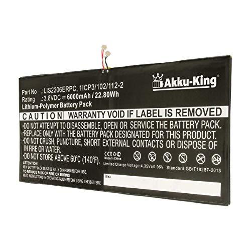 Akku-King Akku ersetzt Sony LIS2206ERPC - Li-Polymer 6000mAh - für Sony Castor, SGP511, SGP512, SGP521, SGP541, SGP551, SGP561, SOT21, Xperia Tablet Z2, Xperia Tablet Z2 TD-LTE