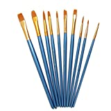 LEORX Pennello di arte Punta dell'acquerello pittura spazzola rotonda di pennelli Set - 10pz