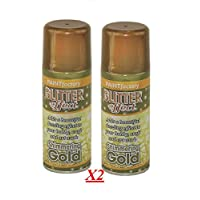 2x Glitter Gold Effect Spray Paint Decorative Creative Art Crafts Frames Hobby