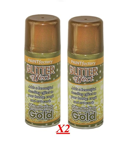 2-x-glitter-gold-effekt-spray-paint-dekorative-creative-art-crafts-frames-hobby